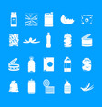 garbage icon blue set vector image