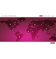 global connection business banner vector image vector image