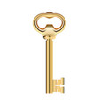 golden key isolated on white background vector image vector image