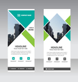 Green Business Roll Up Banner flat design template vector image vector image