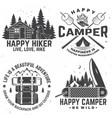 happy camper concept for vector image vector image
