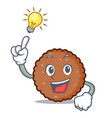 have an idea chocolate biscuit mascot cartoon vector image vector image
