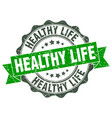 healthy life stamp sign seal