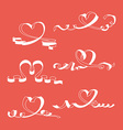 Heart ribbon set vector image vector image