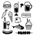 hrana set3 resize vector image vector image