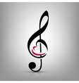 I love music concept vector image vector image