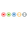 icons healthy life lifestyle with run health vector image