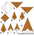 make origami a length samurai hat vector image