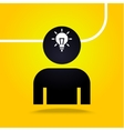 man and image of the bulb vector image