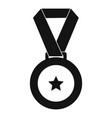 medal icon simple vector image vector image