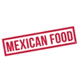 Mexican food rubber stamp vector image vector image