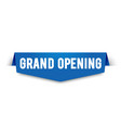 modern grand opening label vector image vector image
