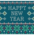 New Year ornament on the knitted texture vector image vector image