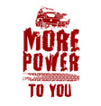 off road quote poster vector image vector image