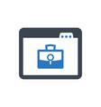 online job search icon vector image vector image