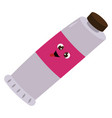 paint tube on white background vector image vector image