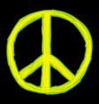 Peace sign Hippie symbol of peace vector image vector image