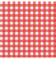 red picnic cloth vector image