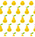 seamless pattern with cute cartoon pears perfect vector image vector image