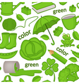 seamless pattern with green objects vector image vector image