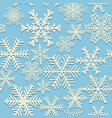 seamless winter pattern white snowflakes on blue vector image