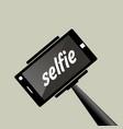 selfie stick portrait photograph with digital vector image vector image