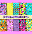 set seamless backgrounds vector image vector image