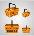 shopping bag with round holes orange vector image vector image