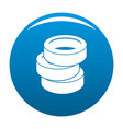 stack of tire icon blue vector image vector image