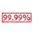 stamp text 9999 percent vector image