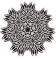 stylized star flower mandala vector image vector image