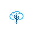 tech weather and season logo icon design vector image