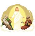 transfiguration jesus christ elijah moses vector image vector image