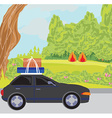 traveling in a car vector image vector image