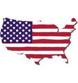 usa flag in the form of maps of the united states vector image vector image