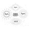 Vintage sunburst collection Hipster style vector image vector image