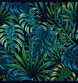 vintage tropical floral seamless pattern vector image vector image