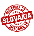 welcome to Slovakia vector image vector image