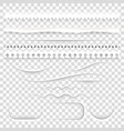 white paper decorative dividers eps 10 vector image vector image