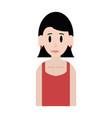 young happy woman icon image vector image vector image