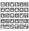 Spa yoga zen flat icons isolated on white vector image