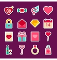 Love Valentine Day Stickers vector image