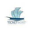 ticket boat vector image