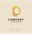0 company logo design with white background vector image