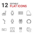 12 concert icons vector image vector image