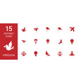 15 freedom icons vector image vector image