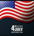 4th july independence day united states of america vector image