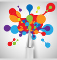 a pen with colorful shapes vector image