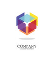 abstract geometric logo design vector image vector image