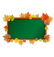 autumn blackboard vector image